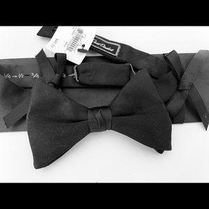 David Donohue Black Silk Tuxedo Bow Tie NWT USA